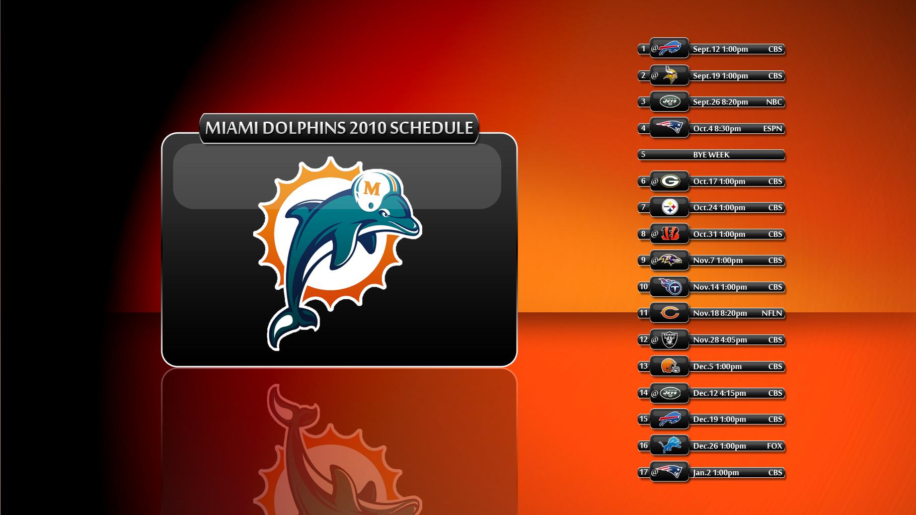 Miami Dolphins 2016 Schedule Wallpaper WallpaperSafari