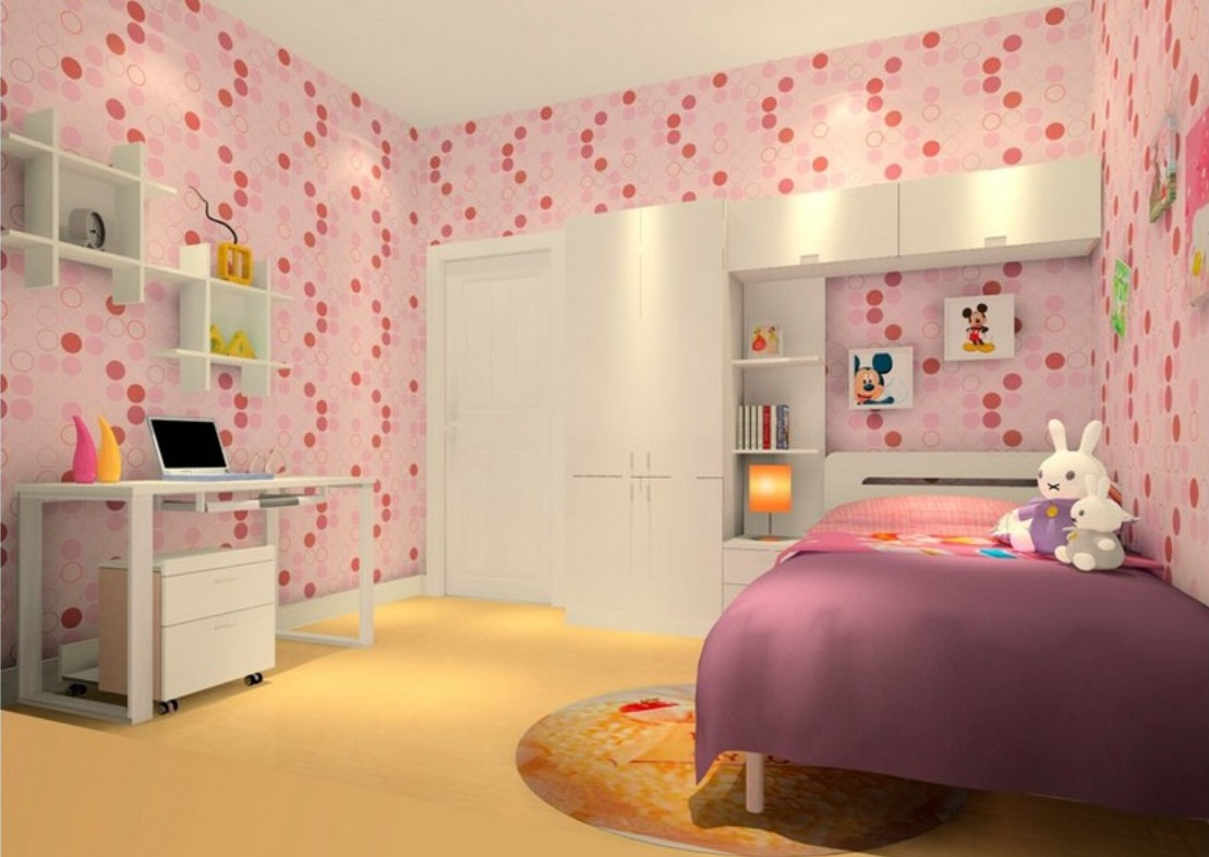 Wallpaper for girls room wallpapersafari Wallpaper for teenage girl bedroom