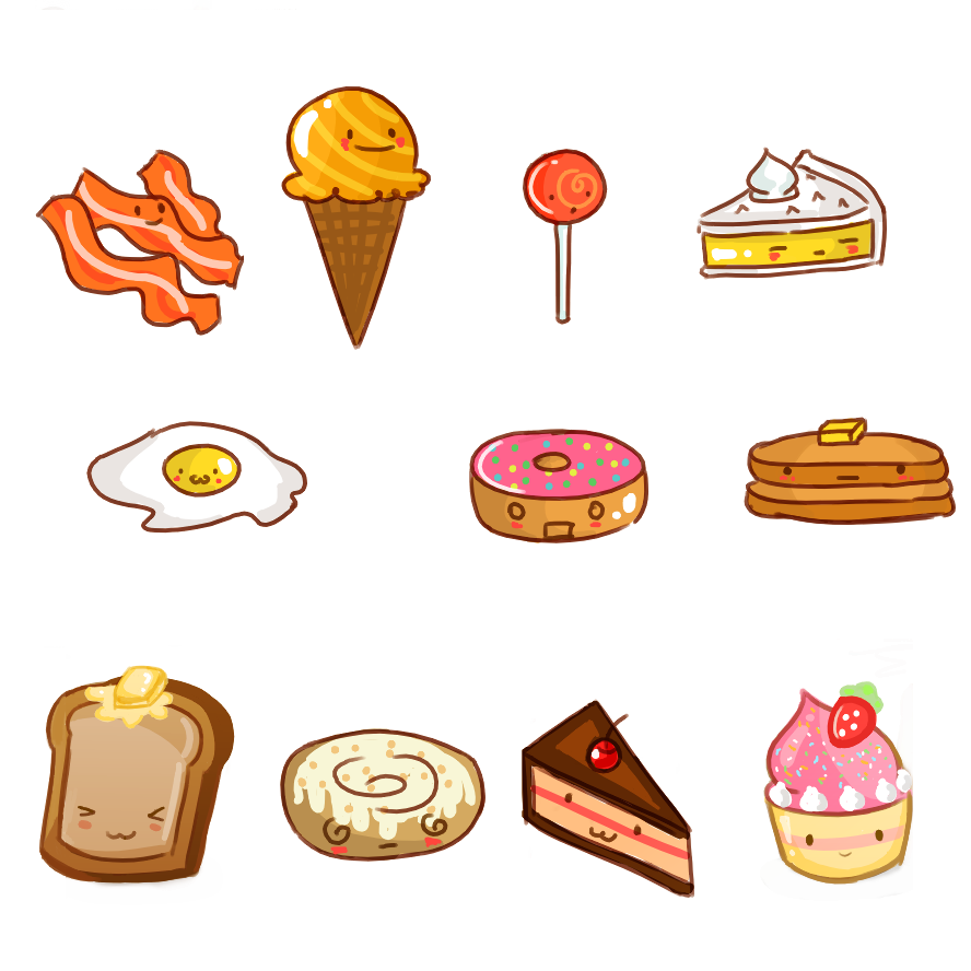 Cute Cartoon Food Wallpapers - WallpaperSafari
