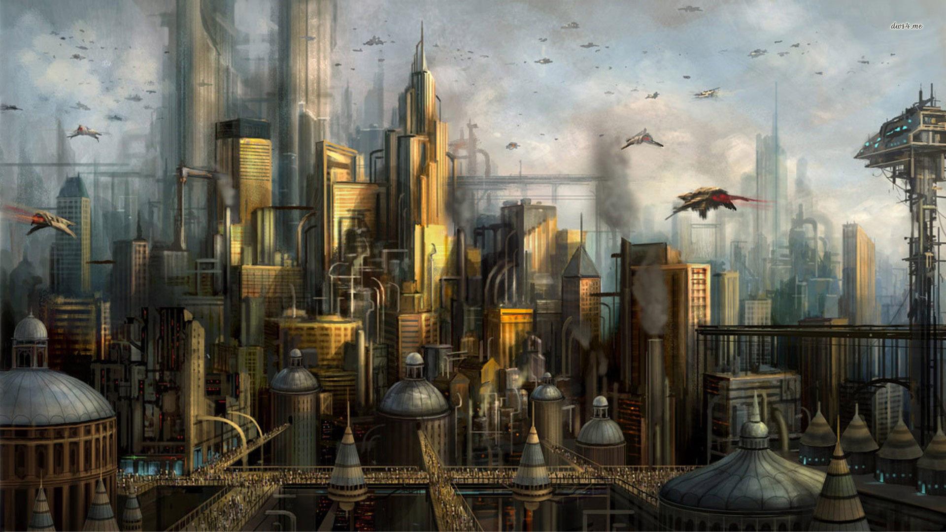 Futuristic City Wallpaper Hd: Futuristic City Wallpaper 1920x1080