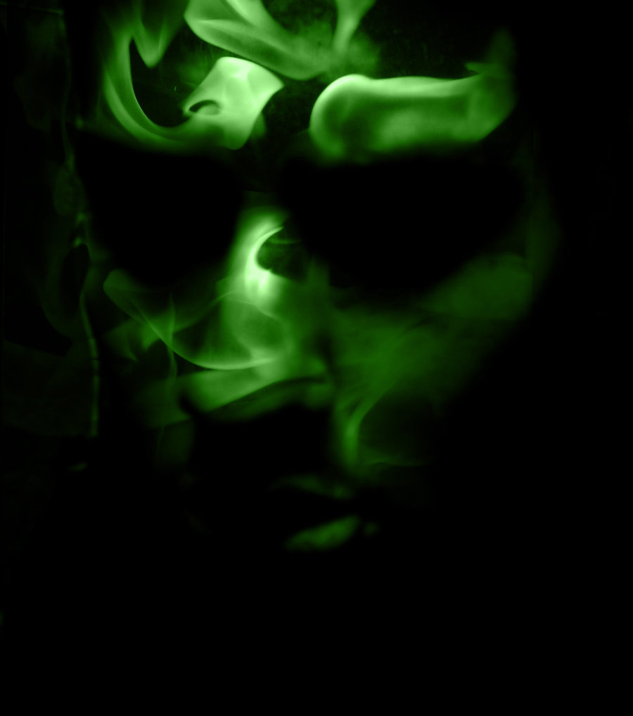 Green Fire Flames Wallpaper Green flame by spook5 900x1018