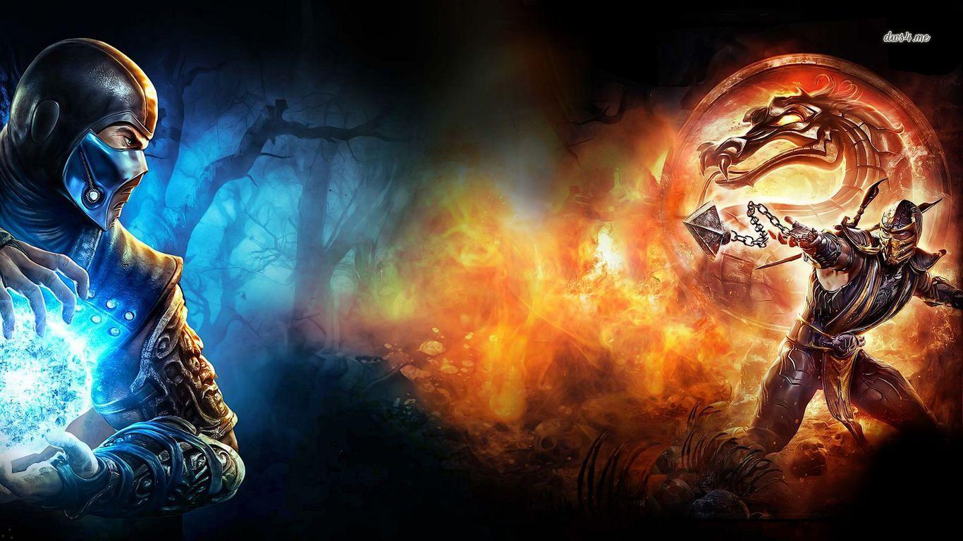 Mortal Kombat   Sub Zero Scorpion wallpaper 1366x768 1366x768