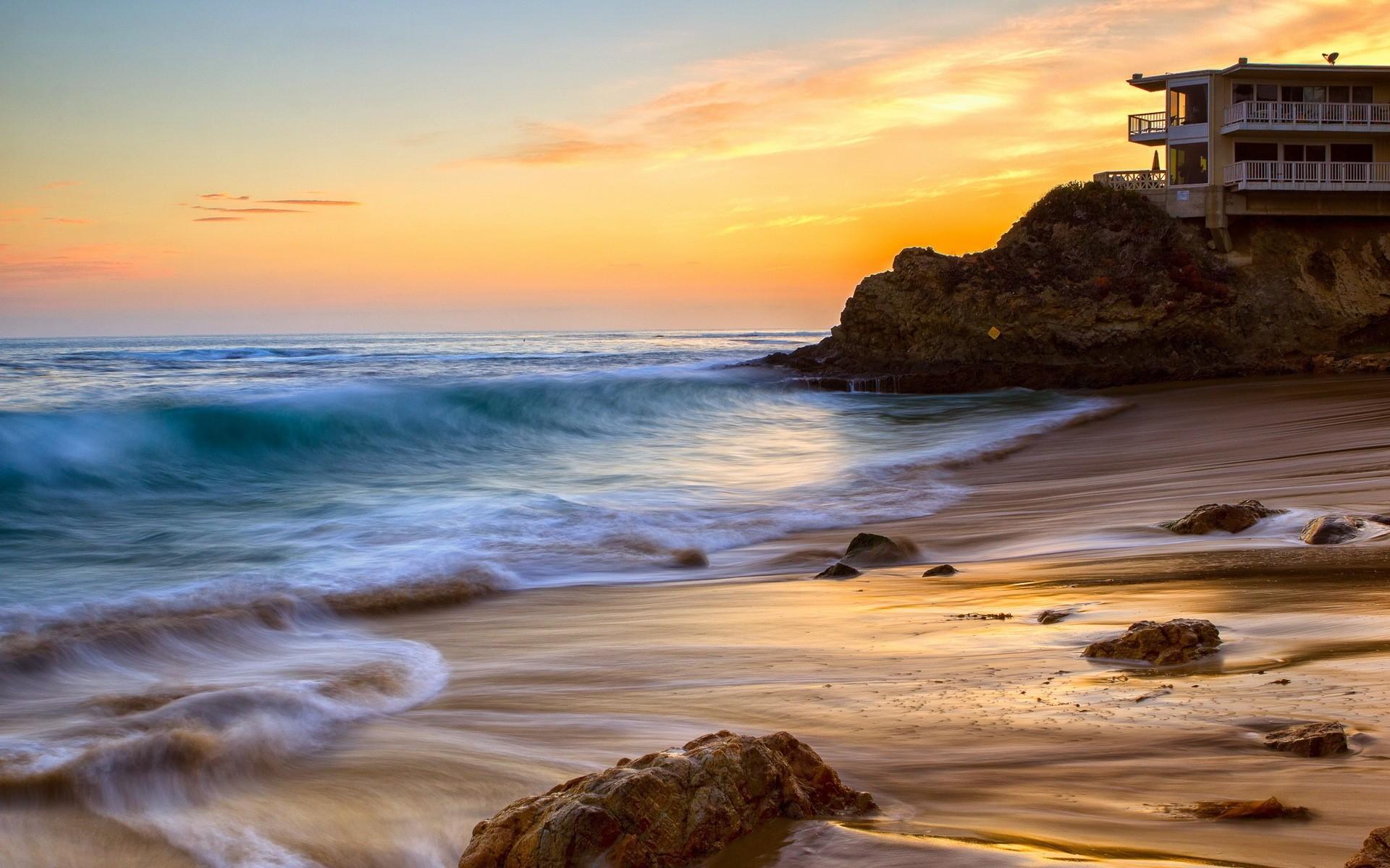 Heisler Park Sunset Laguna Beach Wallpaper 150974 1920x1200
