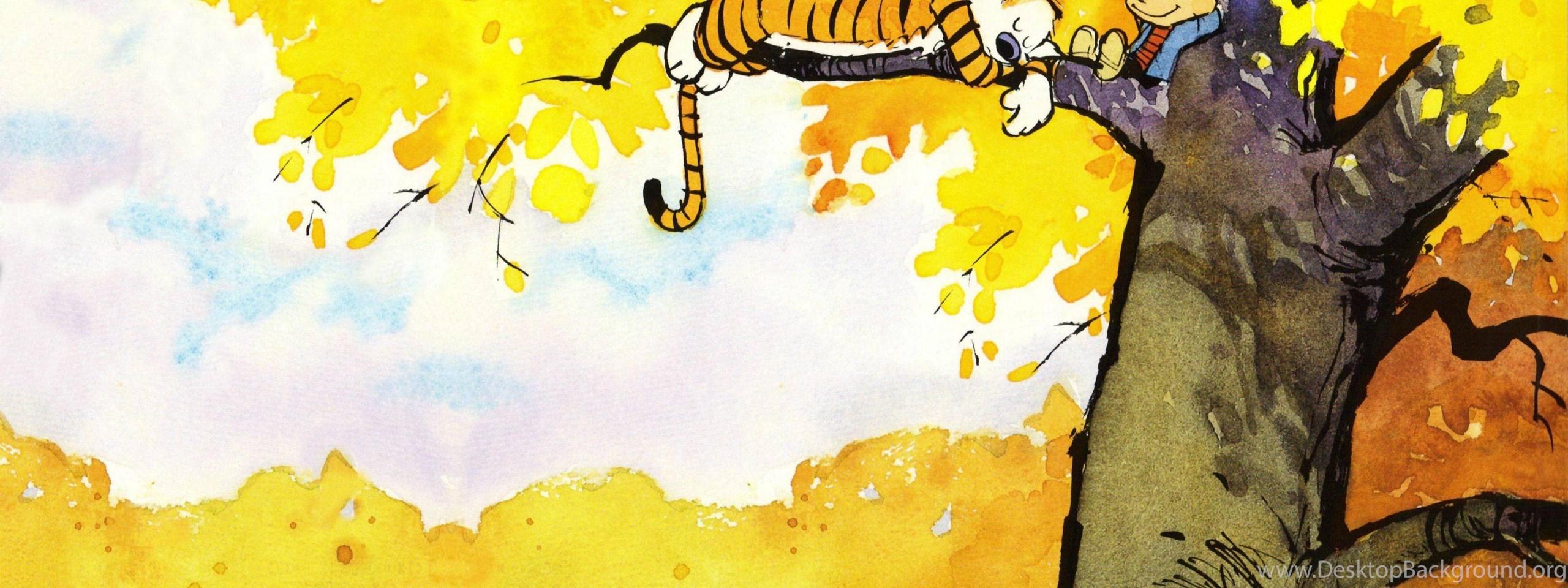 Calvin And Hobbes Wallpapers Pics Desktop Background 2560x960