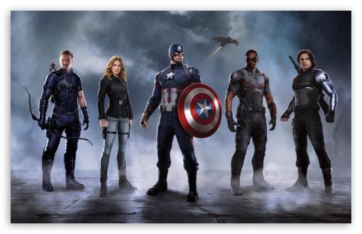 Civil War Captain America Team HD desktop wallpaper Widescreen 510x330