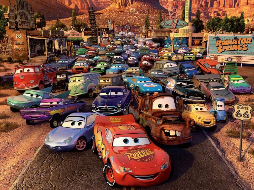 Disney Cars cool wallpaper   Disney Pixar Cars Wallpaper 13374968 1024x768
