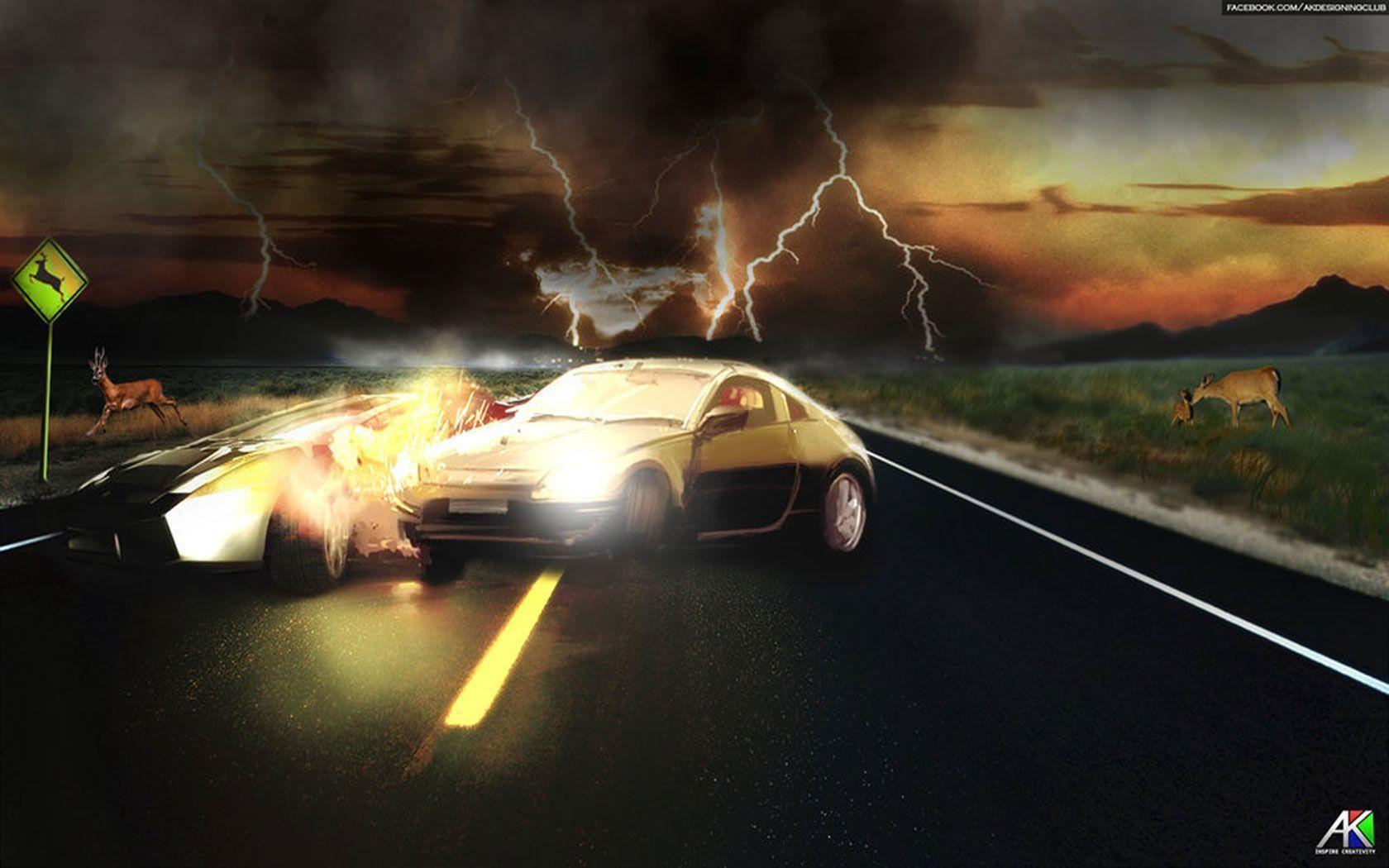 Car Crash Wallpapers 1680x1050