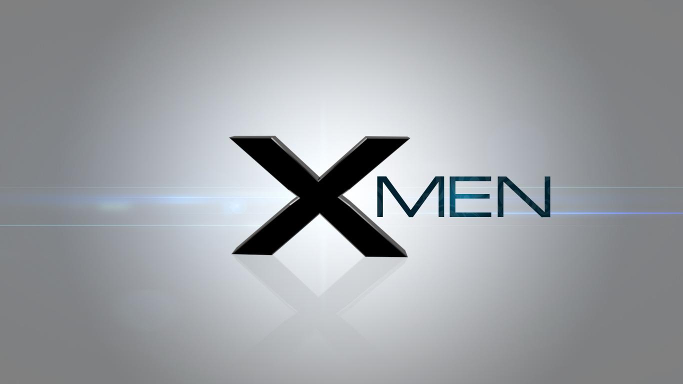 men logo wal X Men Logo Wallpaper 1366x768