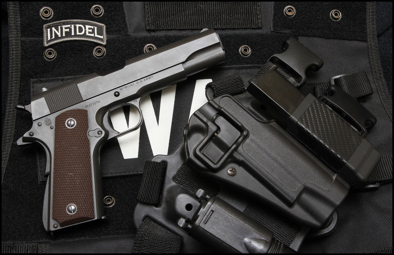 Weapons   Colt 1911 Pistol Colt 45 Infidel 1911 Wallpaper 1280x827