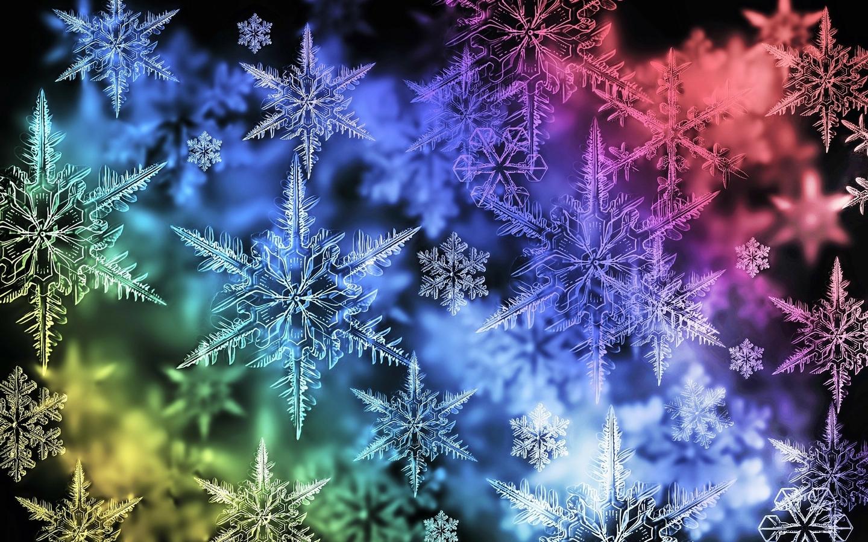 Colorful Snowflake Desktop Wallpaper 1440x900