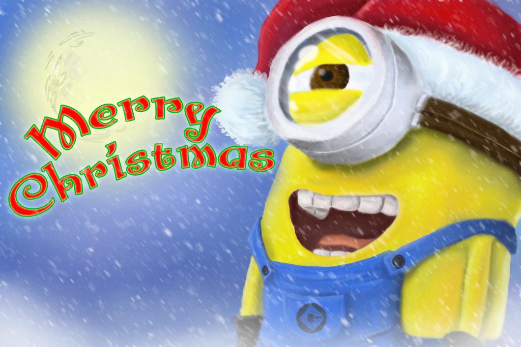 minion christmas by jediknight97 1024x683 - Minion Christmas Wallpaper