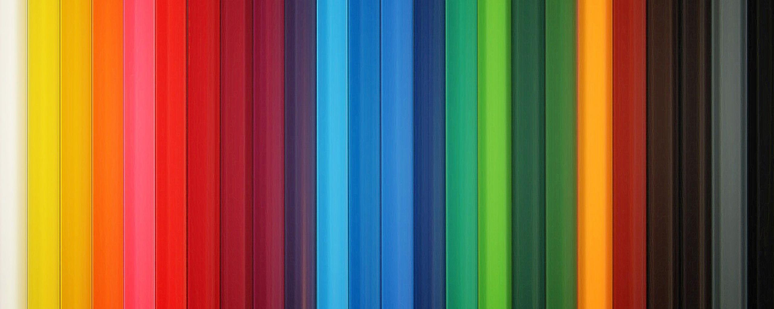 Wallpaper 2560x1024 Colorful Stripes Rainbow Vertical Dual Monitor 2560x1024