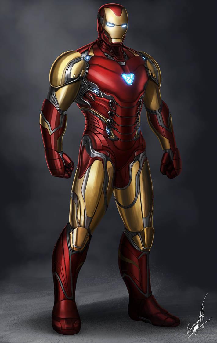 Iron Man Mark 85 in Avengers 4 by buynsanjaa 711x1124