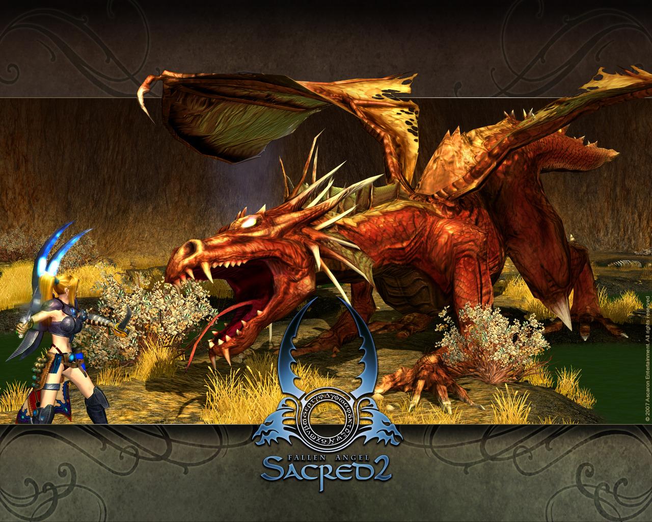 sacred dragon sacred 2 fallen angel wallpaper sacred dragon wallpaper 1280x1024