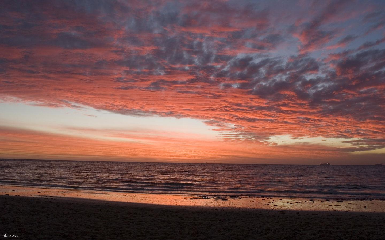 Red Sunset Beach Desktop Wallpaper iskincouk 1440x900