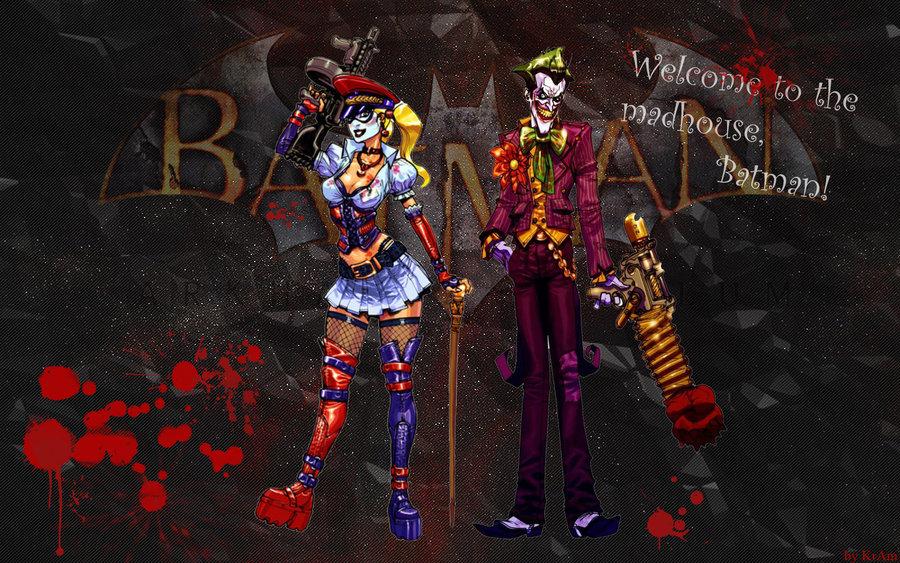 Harley Quinn and Joker Arkham Asylum wallpaper by KrAm5597 on 900x563