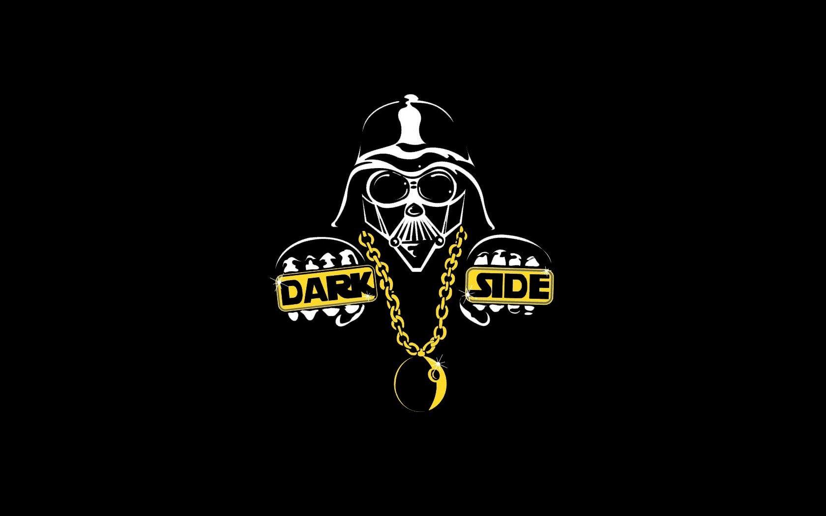 Darth Vader funny dark side black background wallpaper 1680x1050 1680x1050