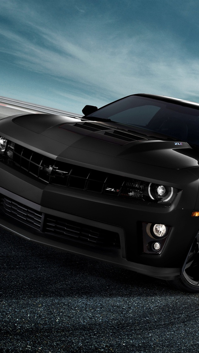 Chevrolet Camaro ZL1 black auto iPhone 5 wallpaper iPhone 5 Wallpaper 640x1136