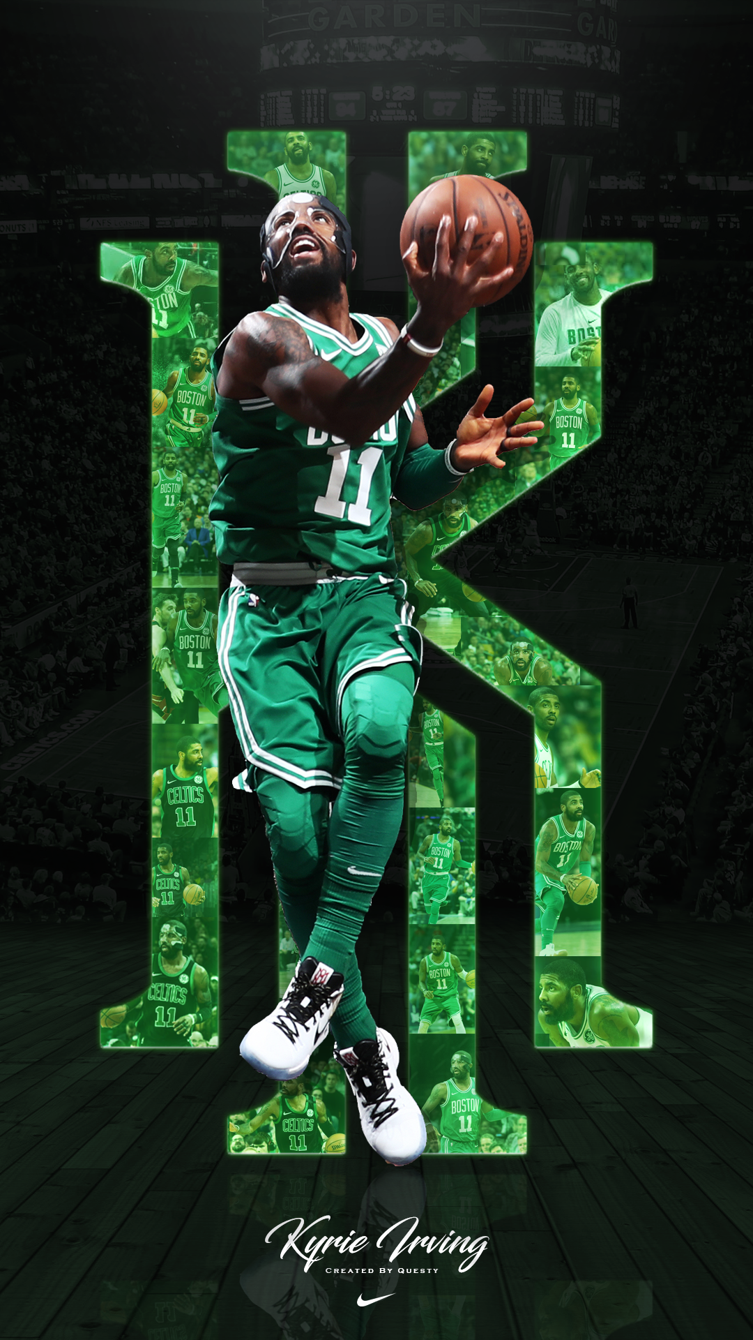 Kyrie Irving Celtics iPhone Wallpaper Created by QuestyTv on 1080x1920