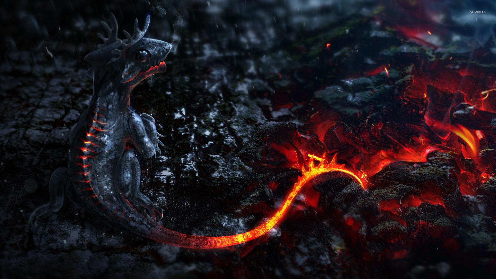 Lava dragon wallpaper   801618 1920x1080