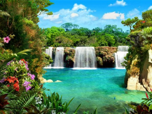 Screensaver Screensavers   Download 3D Waterfalls Screensaver 500x375