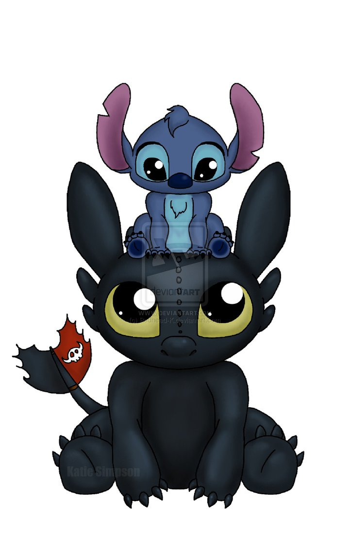 toothless toothlessandstitch cute little stitch pops a squat on top of 721x1109