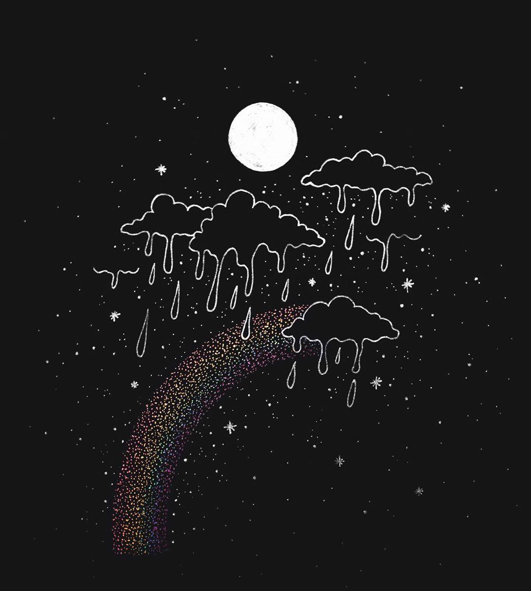 Ameya on Instagram moonbow [ lunar rainbows are rare 1080x1200
