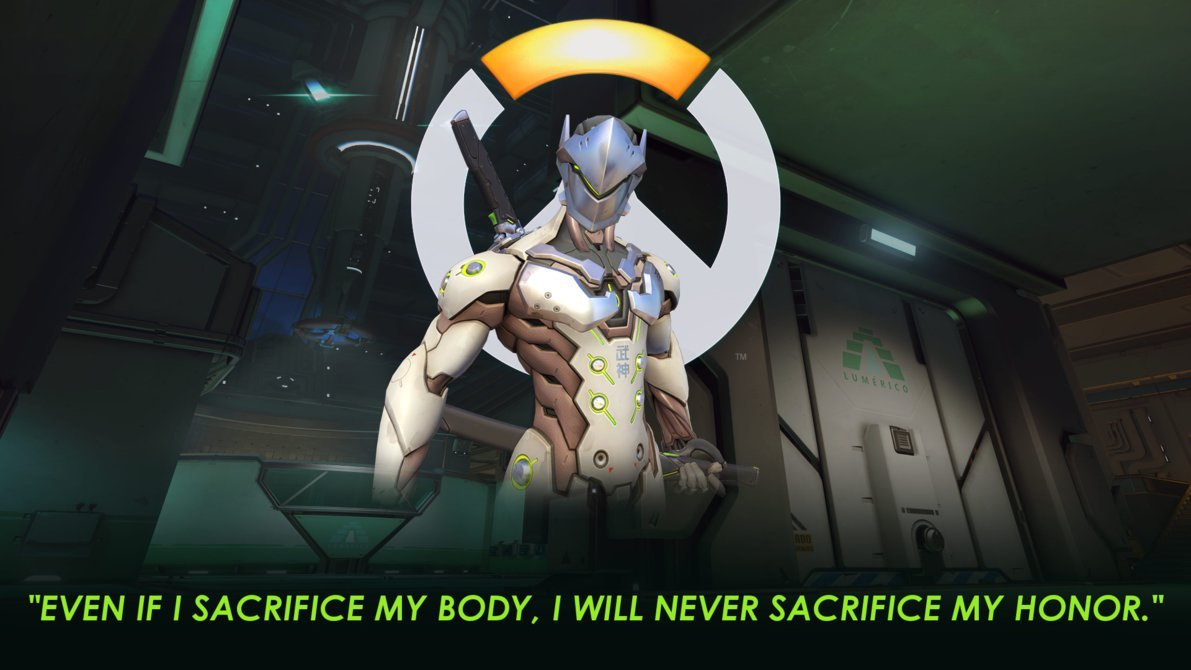 overwatch genji portrait wallpaper 1920 x 1080 genji wallpaper 1191x670
