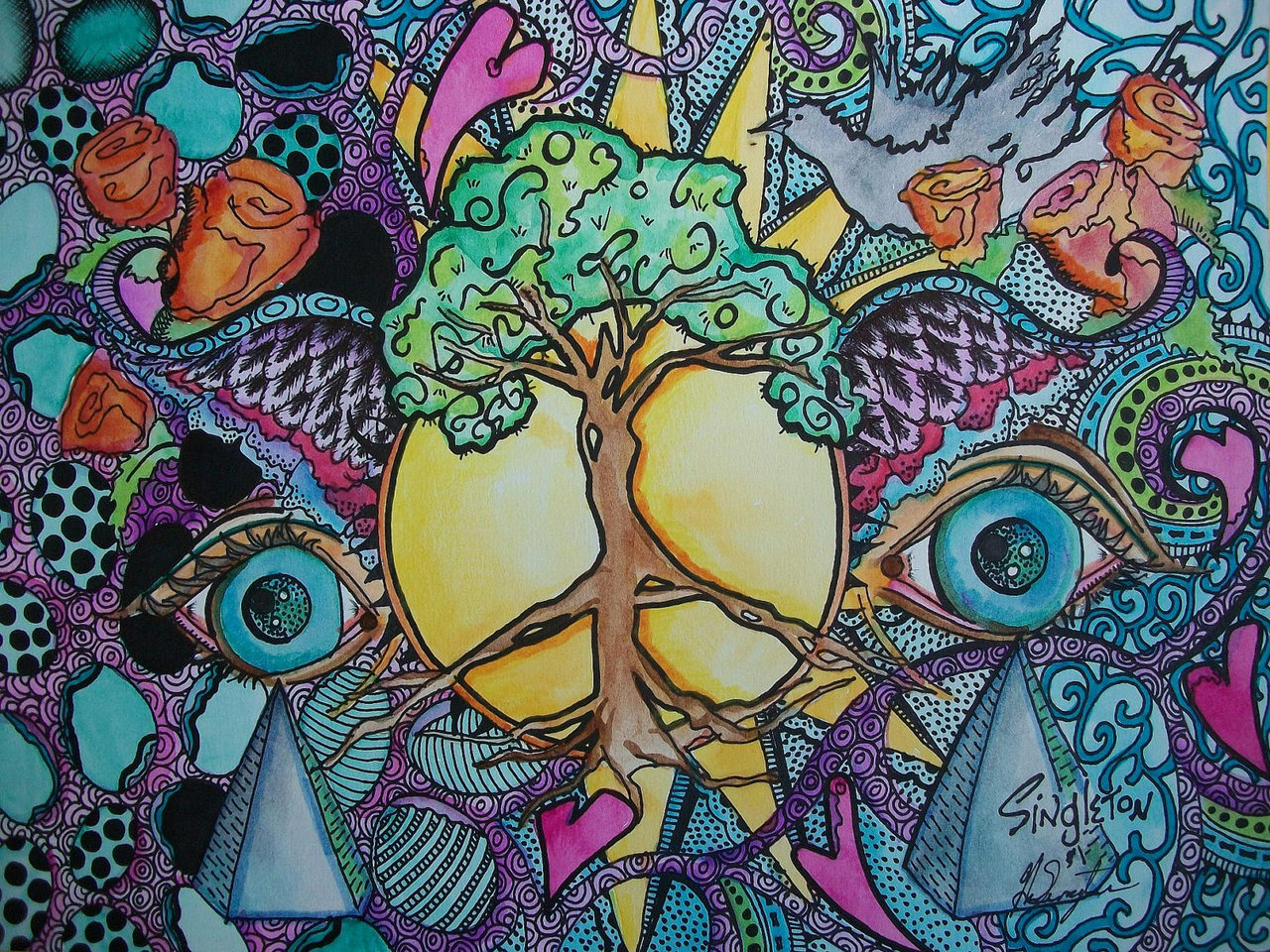 Trippy hippie wallpaper wallpapersafari - Trippy backgrounds tumblr ...