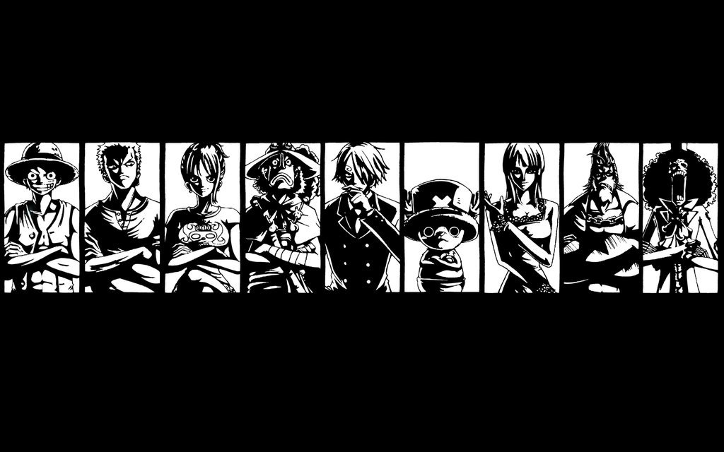 One Piece Wallpaper Black and White One piece wallpaper 1024x640