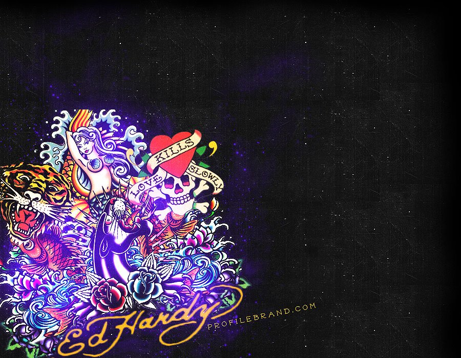 ed hardy background wallpapersafari
