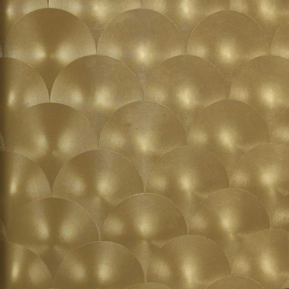 Bronze Metallic Circles Wallpaper by Julian Scott Designs BURKE 1000x1000