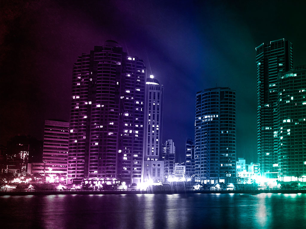 Amazon Kindle Fire Colorful City wallpapers Amazon Kindle Fire 1024x768