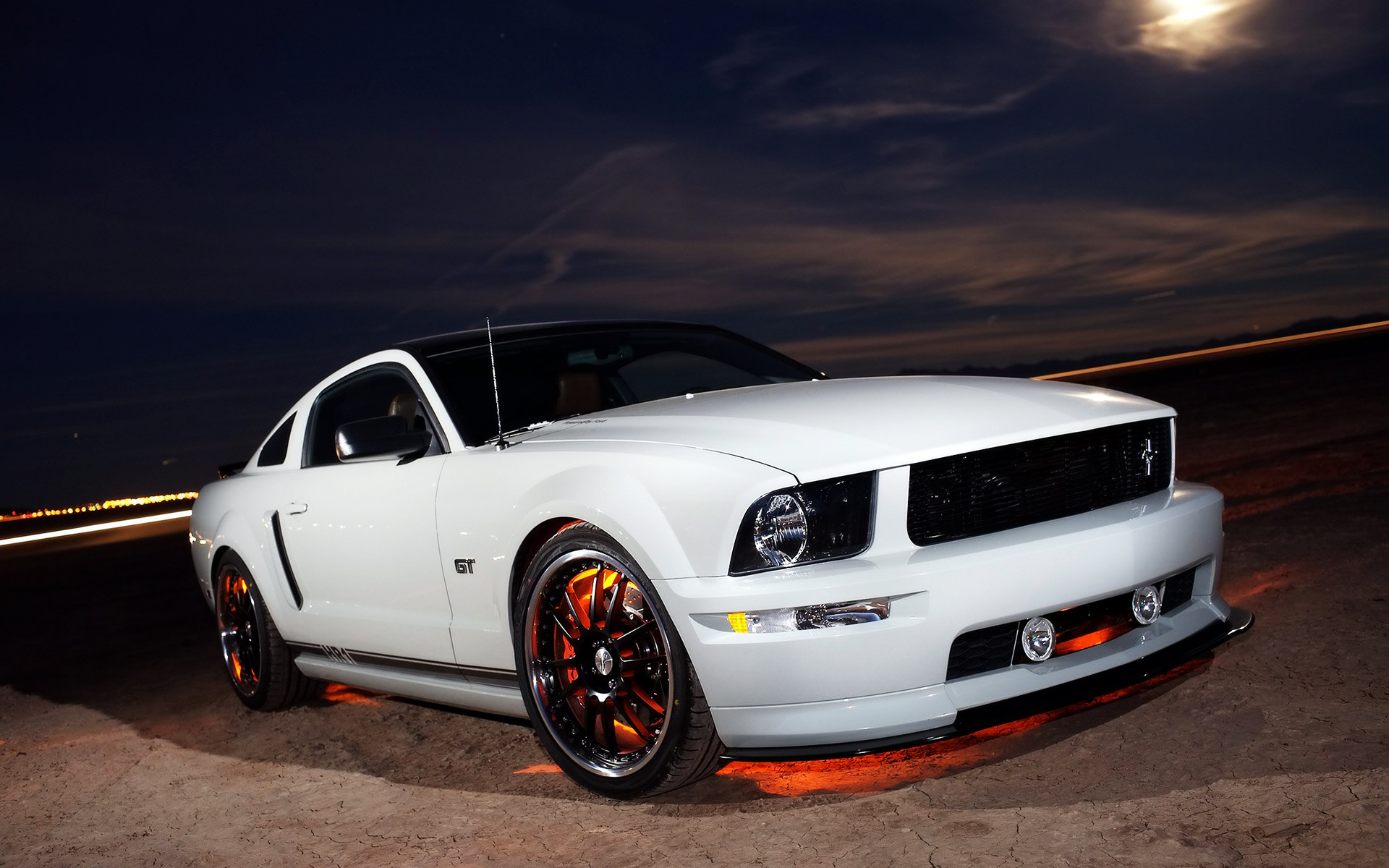White for GT mustang supercars HD Cars Background Wallpapers HD 1920x1200