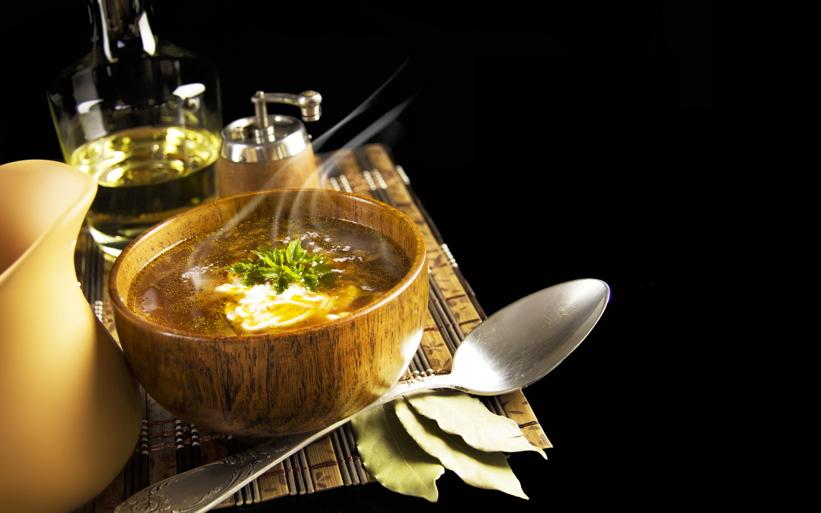 Food For Lunch Soup Wallpaper HD Wallpaper WallpaperLepi 1680x1050