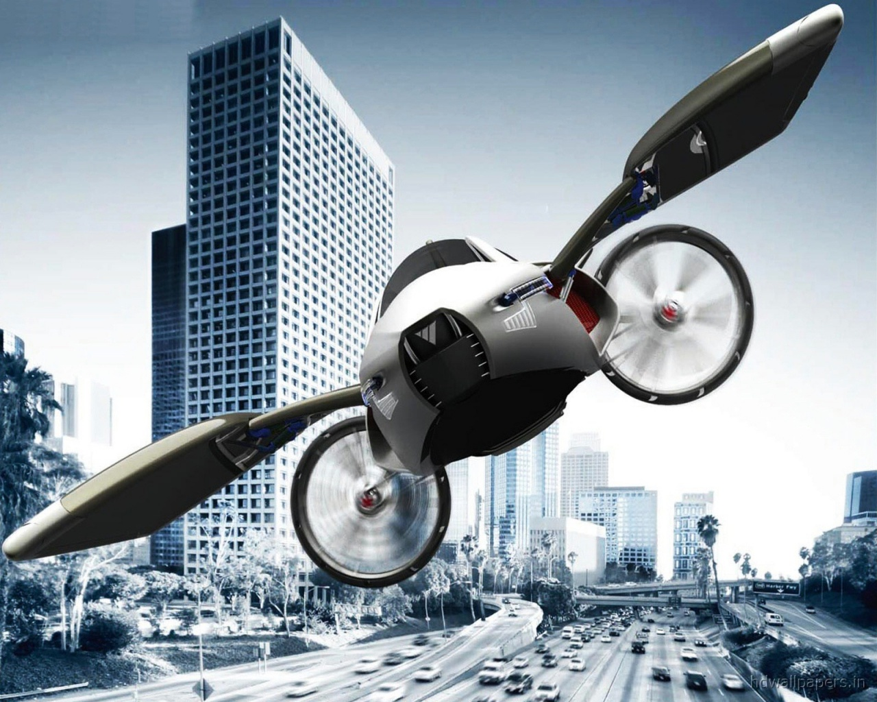 YEE Concept Flying Car Wallpapers in jpg format for download 1280x1024