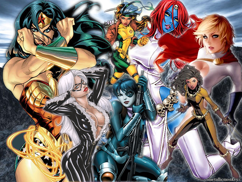 super heroines wallpaper image filed under wallpapers leave a comment 800x600