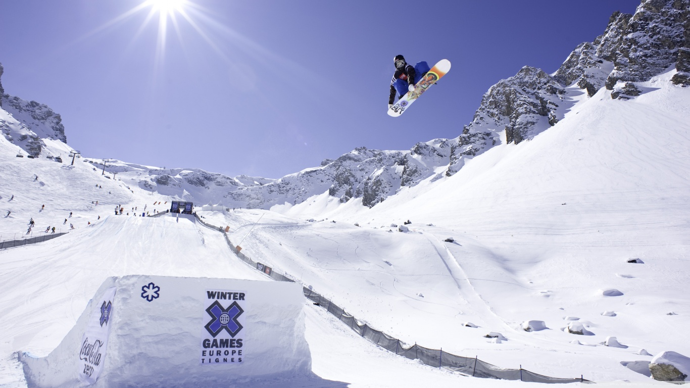 Winter Games Europe Tignes 4K HD Desktop Wallpaper for 4K Ultra 1366x768