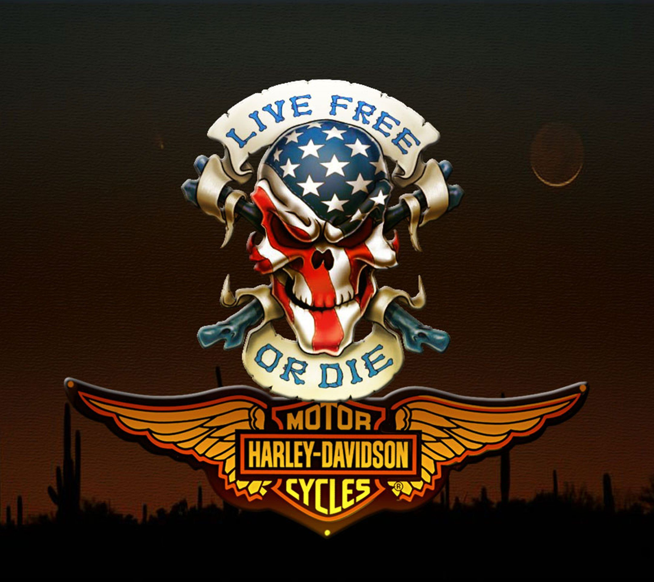 Raiders Tattoo Skull Harley Davidson Wallpa...