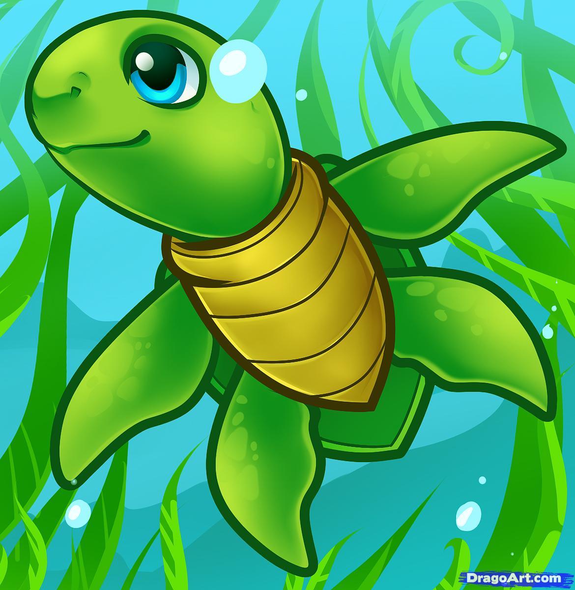 how to draw a sea turtle cartoon sea turtle 1 000000011173 5jpg 1170x1200