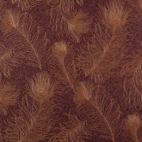 Burgundy and Copper Peacock Tail Wallpaper   Wall Sticker Outlet 600x600