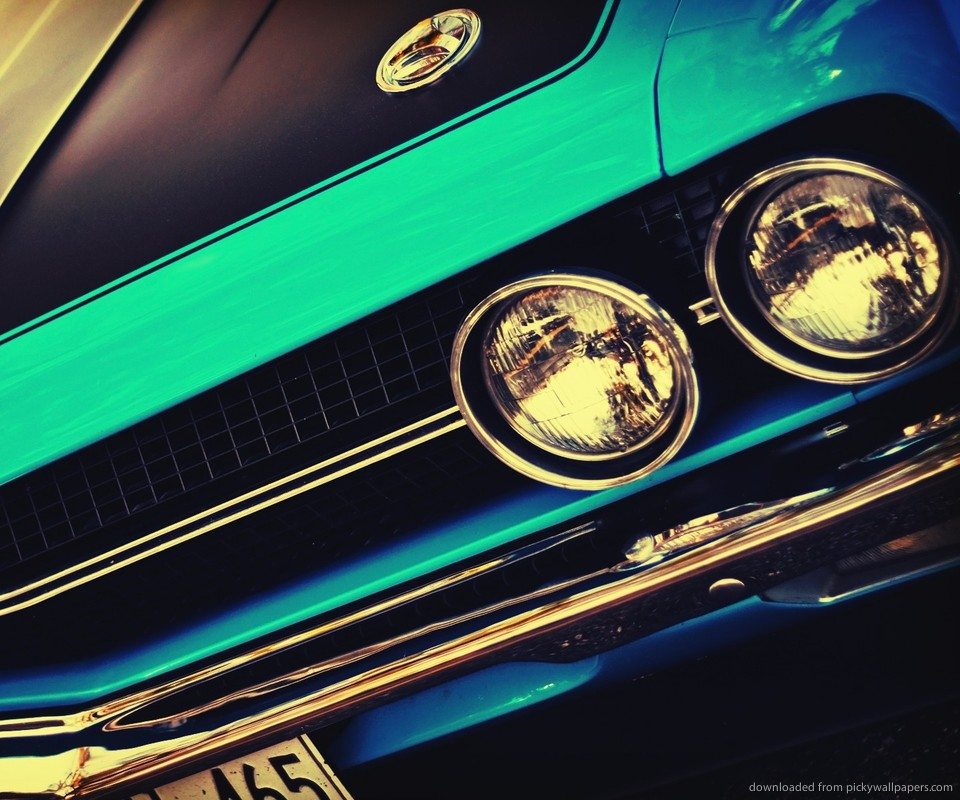 Download Blue Vintage Muscle Car Wallpaper For Samsung Epic 960x800