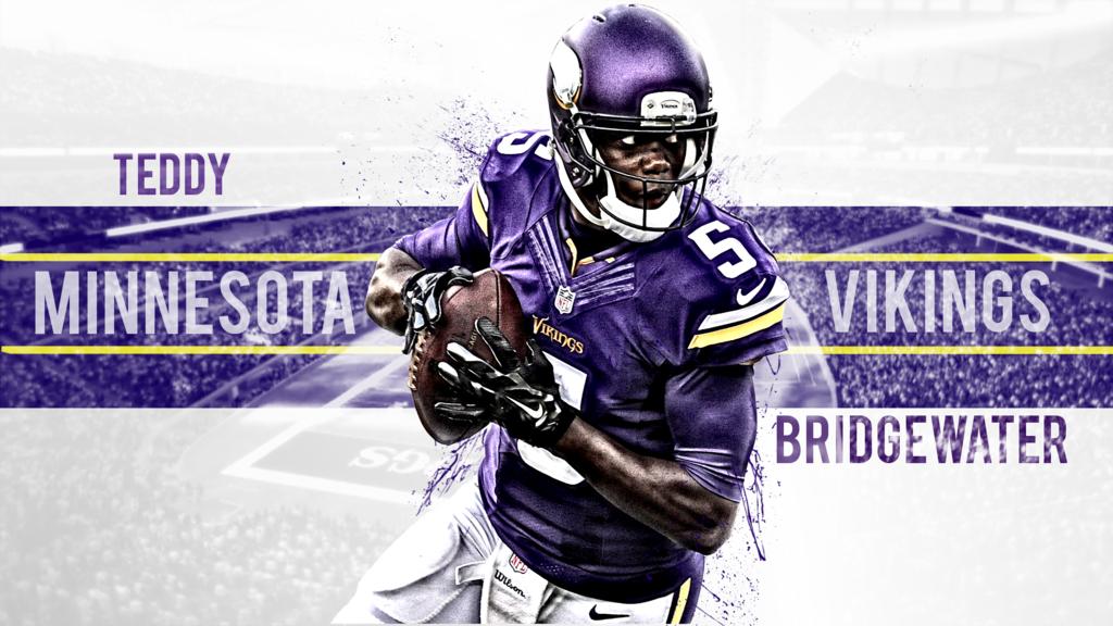 Minnesota Vikings Teddy Bridgewater QB 5 by swin92 1024x576