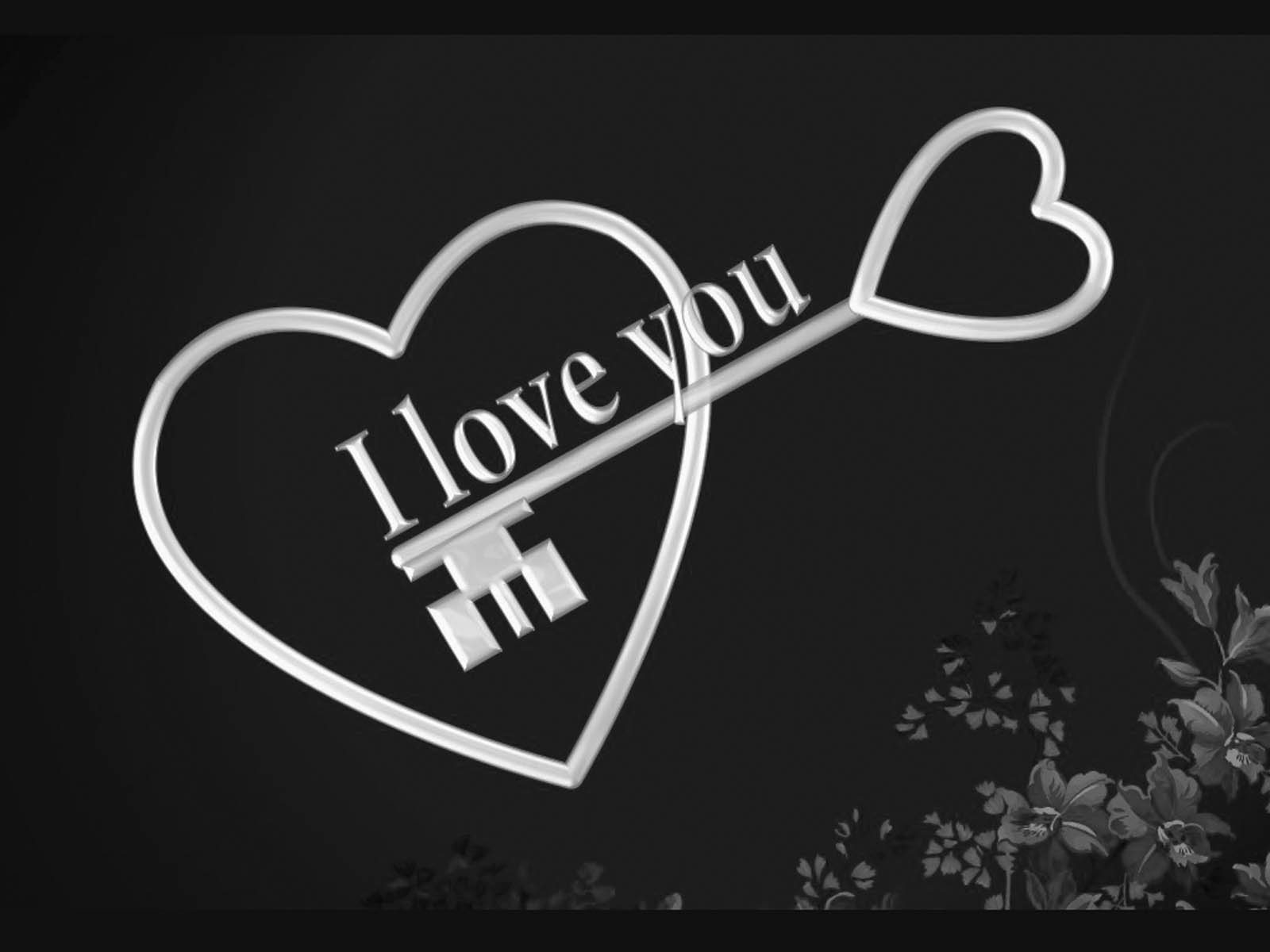 wallpapers Black and White Love Wallpapers 1600x1200