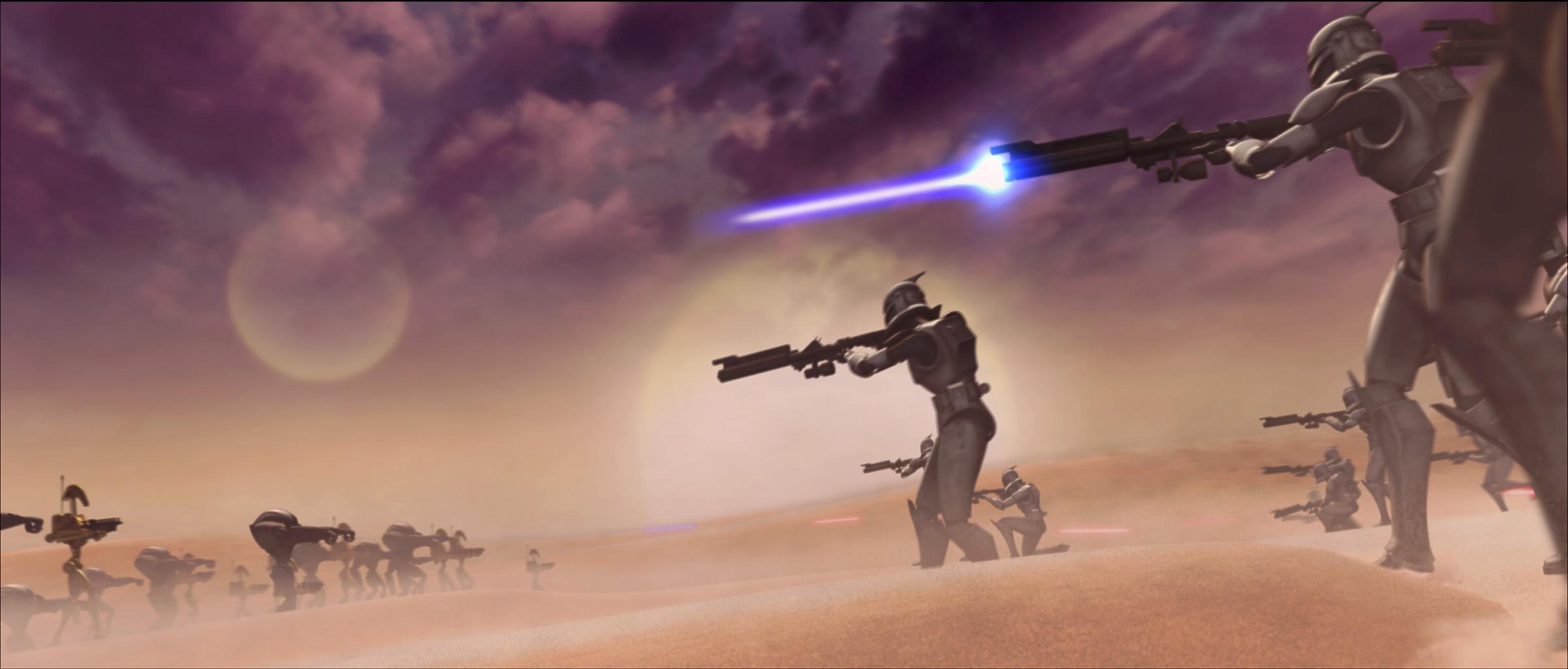 Star Wars Clone Wars Battle Wallpaper   Viewing Gallery 2400x1024
