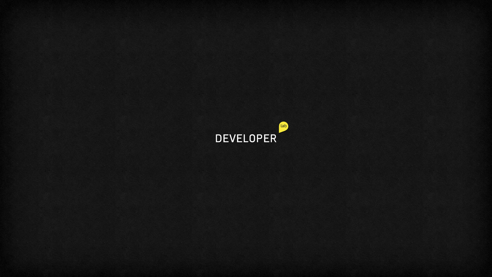 Developer Wallpaper Developer lab black minimalist 1600x900