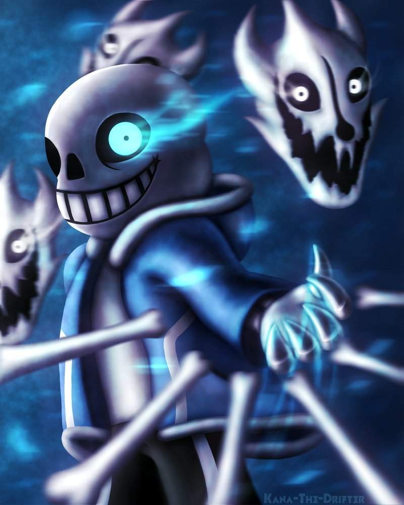 Sans [Undertale] Speedpaint by Kana The Drifter 800x1000