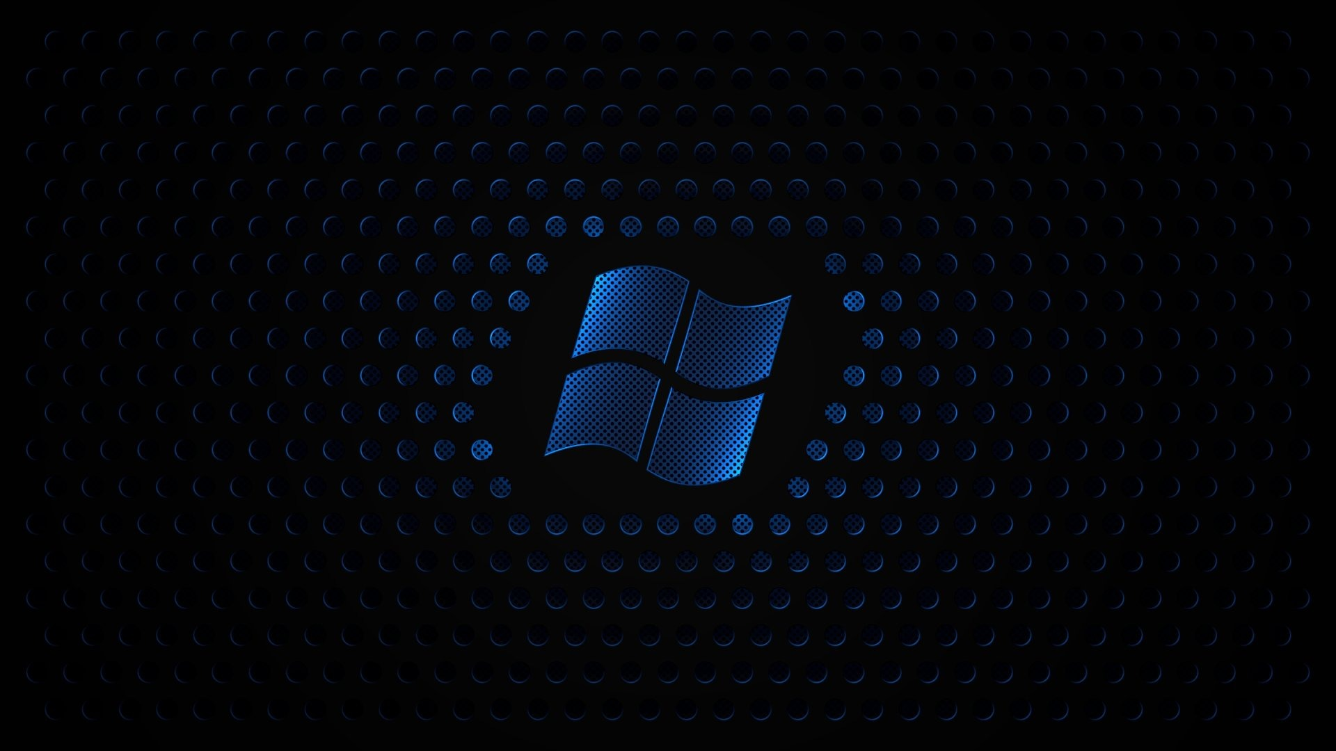 Blue Windows Sign With Black Background Wallpaper Full HD Wallpapers 1920x1080