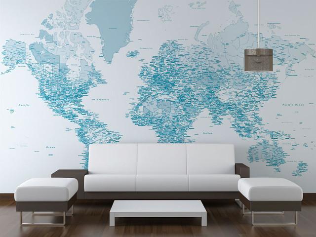 Blue World Map wallpaper design   Wallpaper   london   by Wallpapered 640x480
