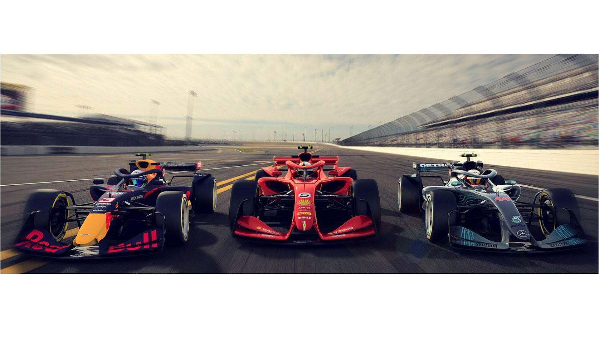 2021 F1 car design proposals focus on aerodynamics for better racing 1920x1080